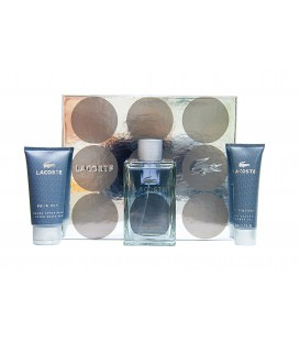 LACOSTE POUR HOMME EDT 100 VP + GEL 50 ML. +  AFTER SHAVE 75 ML.