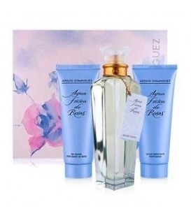 ADOLFO DOMINGUEZ AGUA FRESCA DE ROSAS EAU DE TOILETTE 120ML VAPO. + GEL 75ML + BODY MILK 75ML