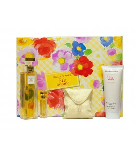 ELIZABETH ARDEN - 5TH AVENIDA EDP 75 vp + BODY LOTION 100 ml. + MUESTRA EDP 3,7 ml. + SALES DE BAÑO