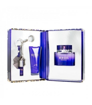 VERSACE - VERSUS EDT 50 vp + BODY LOTION 50 ml. + KEY CHAIN WITH MINIATURE