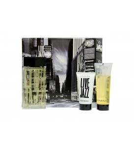 YVES SAINT LAURENT (YSL) - LIVE JAZZ EDT 100 ML. + GEL 75 ML. + AFTER SHAVE 50 ML.