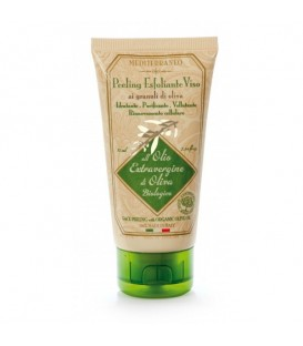 EXFOLIATING FACE TREATMENT WITH GRANULES OF OLIVE
