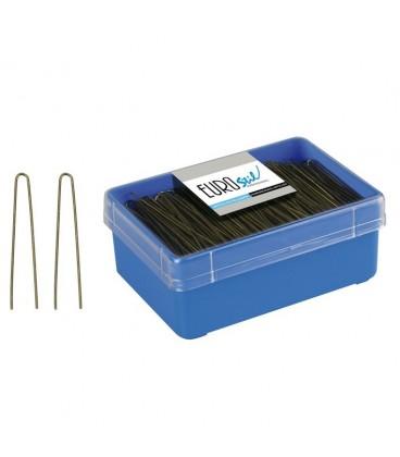 BOX 400 HAIRPINS BUN BROWN 65 MM