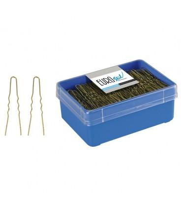 BOX 400 UNSEEN HAIRPINS BROWN 55 MM