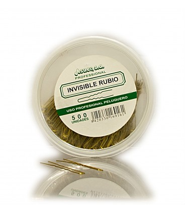 BOX 500 HAIRPINS INVISIBLE BLONDE